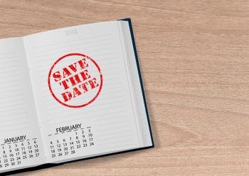 Photo agenda où il est écrit Save the date